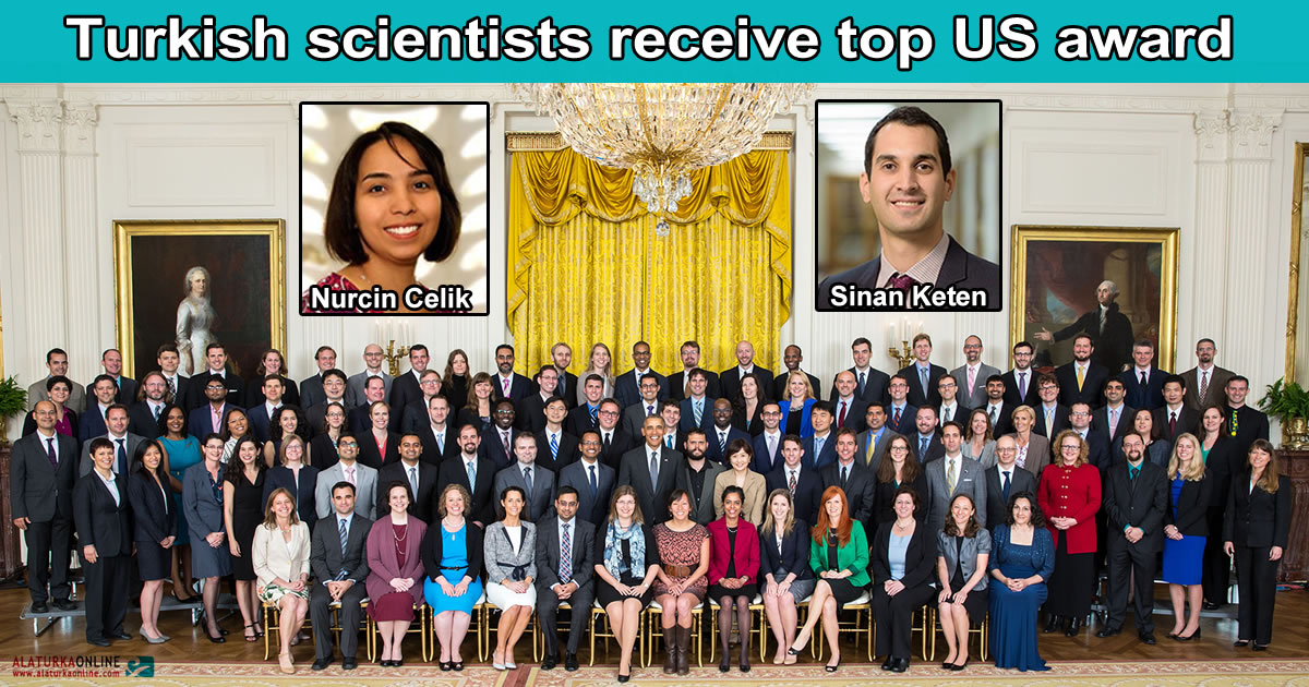 Turkish scientists receive top US Award Nurcin Celik Sinan Keten