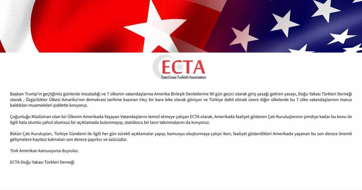 ECTA Trump Cati Derneklerini Kinama