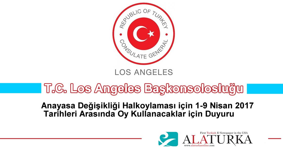Los Angeles Baskonsoloslugu Anayasa Degisikligi Halkoylamasi